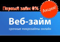 Вэб Займ получить кредит заполнить онлайн заявку